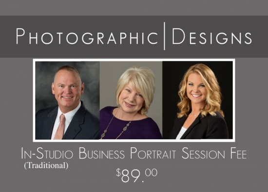 In-Studio Traditional Business Portrait Session Fee