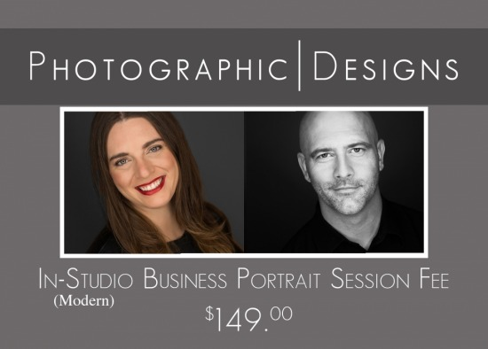 In-Studio Modern Business Portrait Session Fee